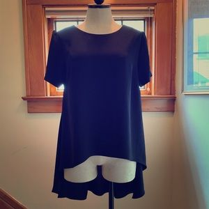 High-low blouse in navy blue from Philosophy